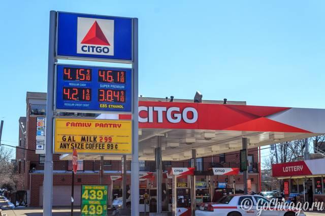 Сколько сегодня стоит литр бензина в америке?
