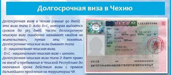 Что такое национальная виза в чехию (виза d) и как она оформляется