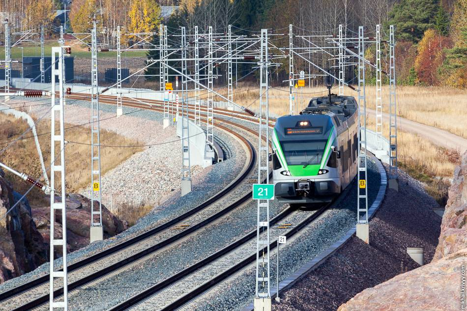 Железнодорожный транспорт в финляндии