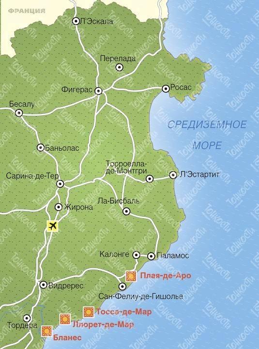Регион коста-дорада в испании: погода, лучшие пляжи с отзывами и достопримечательности на карте