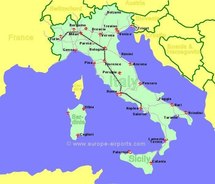 Аэропорты сардинии на карте: количество, названия, как добраться