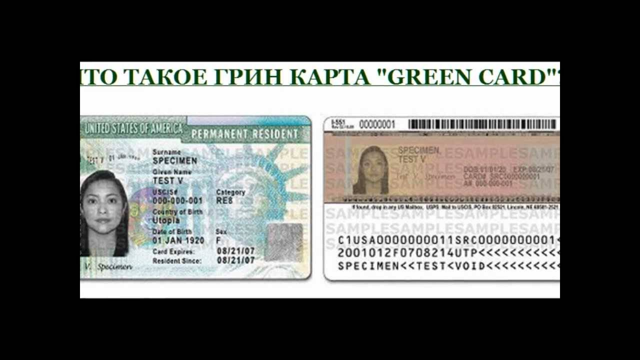 Грин-карта (green card ) сша