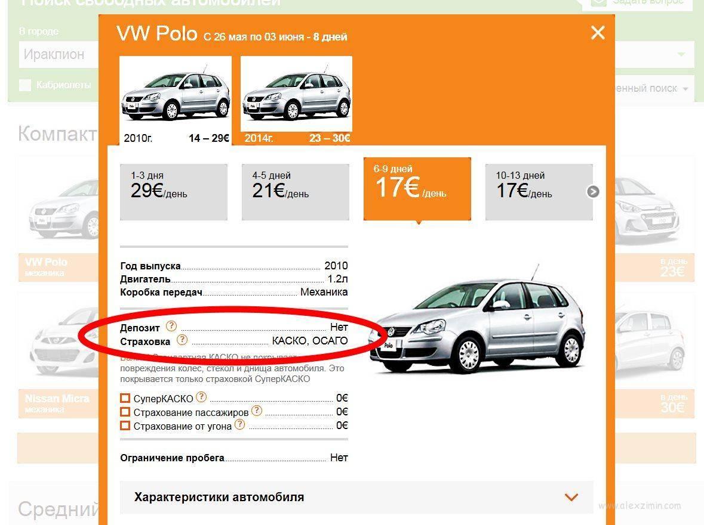 Аренда авто в испании — 2021: цены и условия