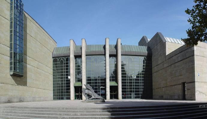 Пинакотека современности (нем. pinakothek der moderne) в мюнхене. фото