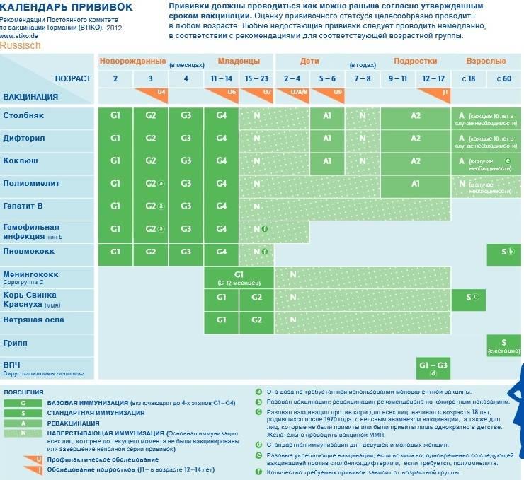 Прививки и обследования детей в германии: стоимость