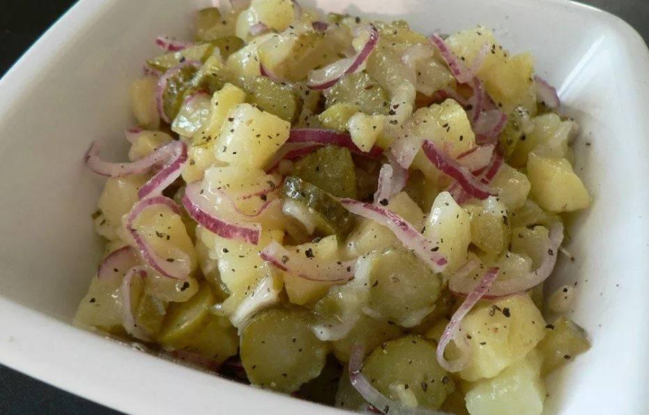 Салат картофельный немецкий. лучшие рецепты