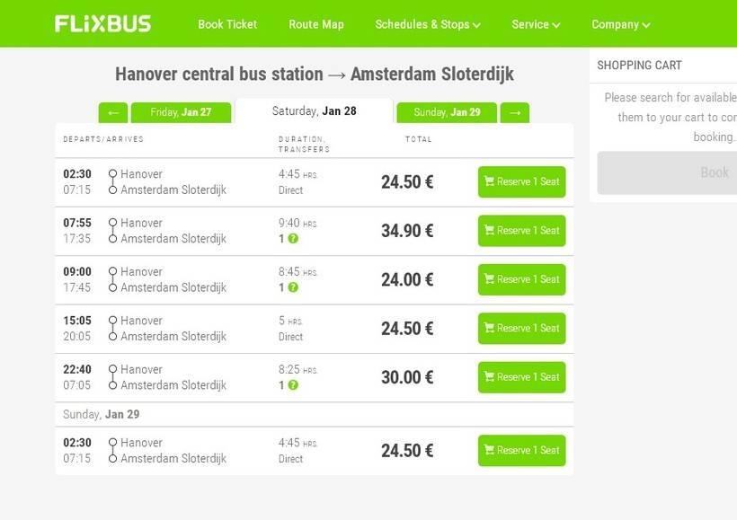 Расписание рейсовых автобусов из франкфурта в амстердам