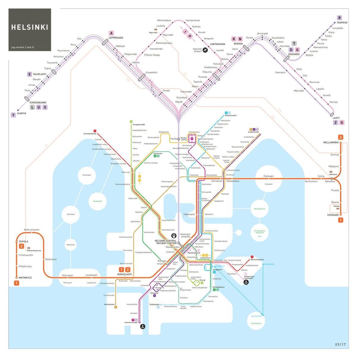 Список станций метрополитена хельсинки — википедия
