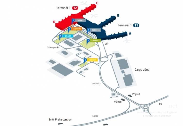 Чешский аэропорт пардубице: схема терминала