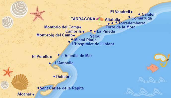 Обзор курортов коста дорада и лучшие пляжи с голубыми флагами салоу, камбрильса, таррагоны, ла пинеда