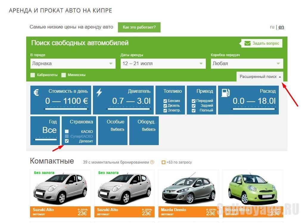 Как арендовать авто в испании