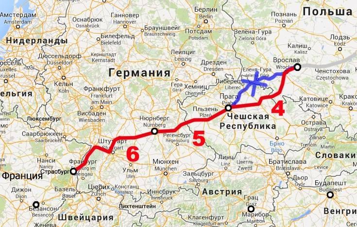 Расстояние от берлина до мюнхена