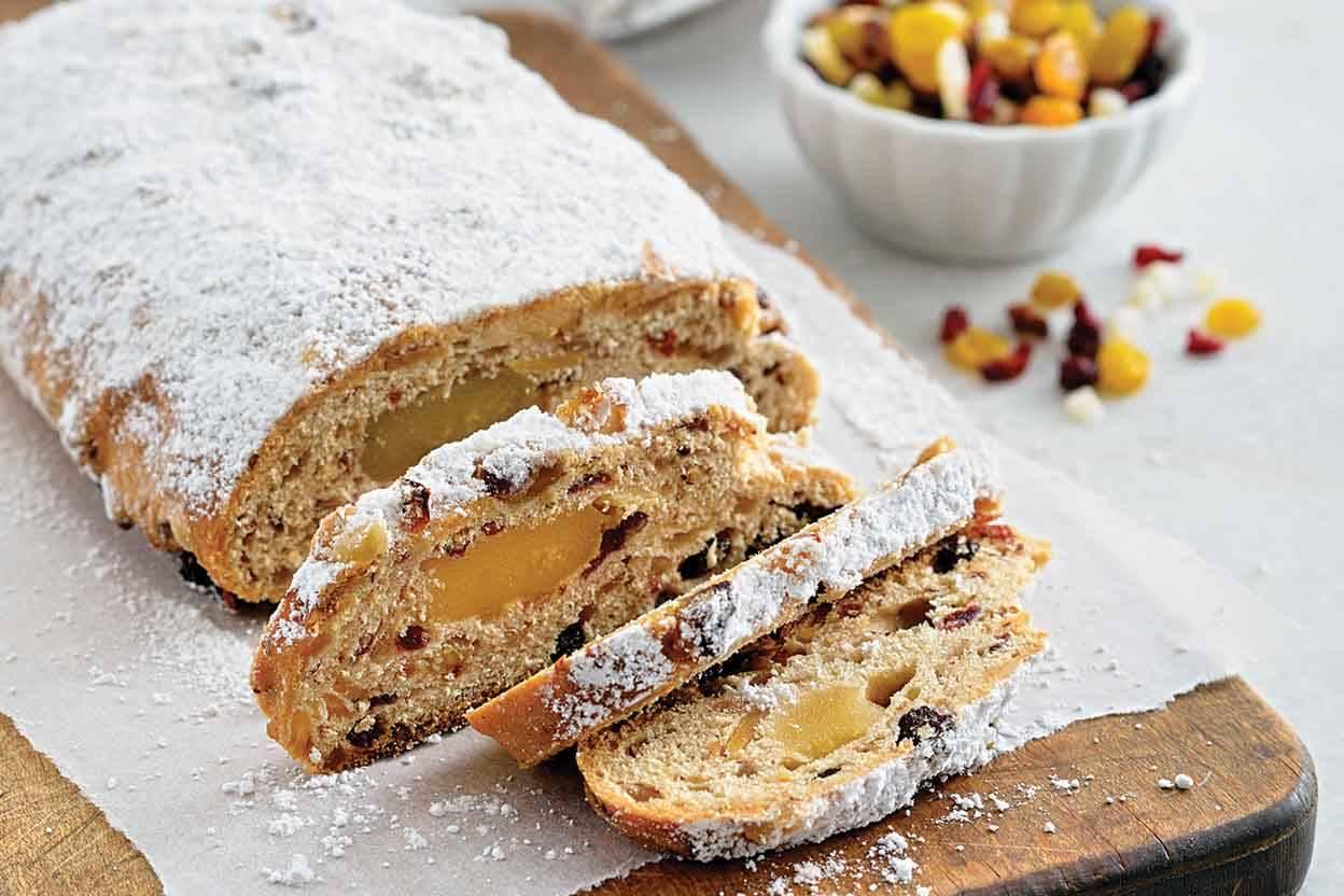 Традиционный штоллен или рождественский кекс и пошаговый рецепт выпечки | cherpachok.com