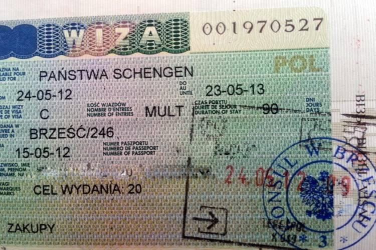 Сколько стоит виза в польшу для белоруса
