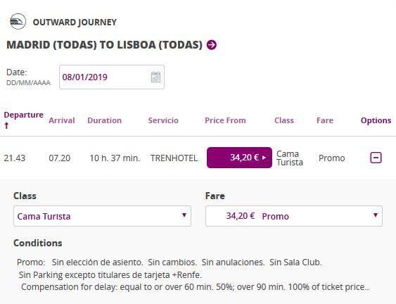 Как лучше всего добраться из мадрида в лиссабон