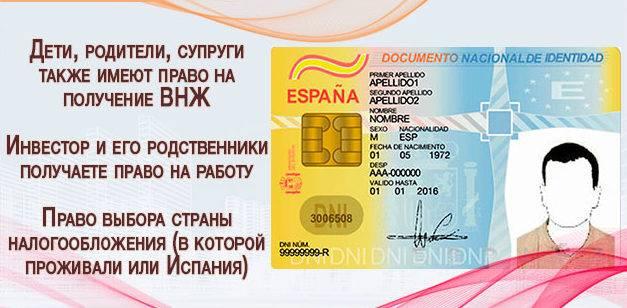 Получение внж в испании для россиян: основания и процедура