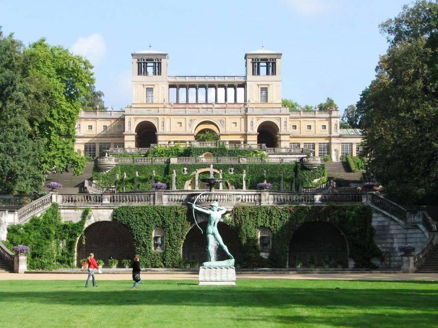Парк сан-суси в потсдаме, германия