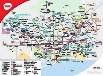 Карта барселоны на русском языке, карта метро барселоны и другие полезные карты и схемы барселоны на туристер.ру