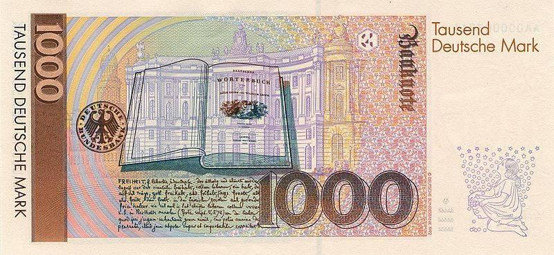 Какая валюта в германии? деньги германии