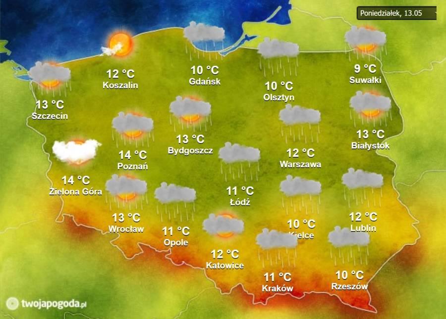 Погода по месяцам в польше и климат