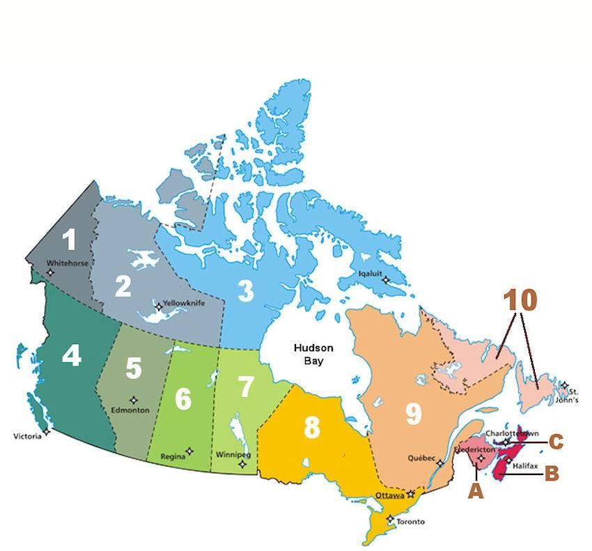 10 самых солнечных городов канады