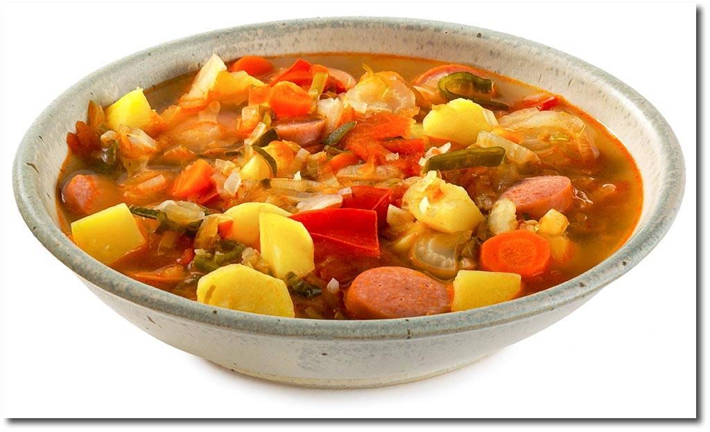 Классический рецепт немецкого супа айнтопф - пошагово с фото