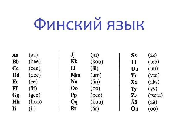 Языки финляндии