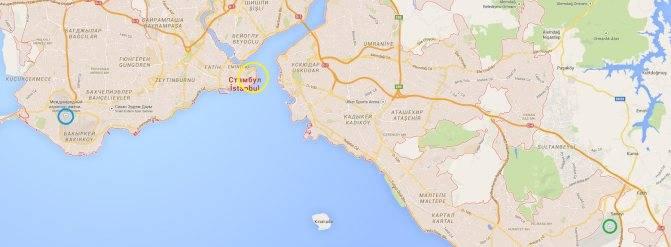 Какие курорты турции находятся близко к аэропорту