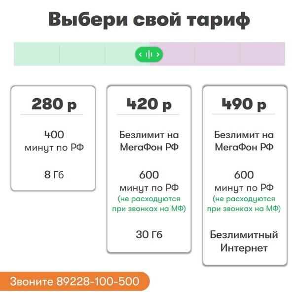 Выгодные тарифы от российских сотовых операторов