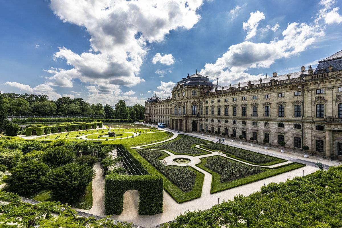 Германия, вюрцбург «вюрцбургская резиденция. шедевр эпохи барокко: вюрцбургская резиденция вюрцбургская резиденция