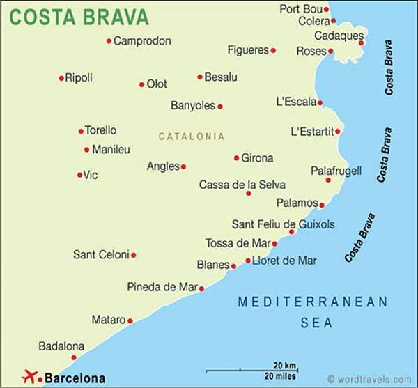 Коста-дорада — золотой берег испании