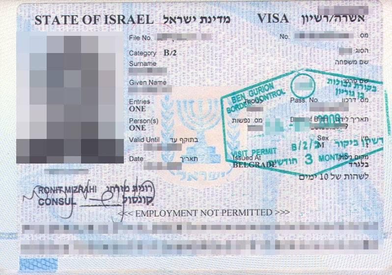 Виза в израиль для россиян 2021: нужна ли, рабочая виза и как ее получить