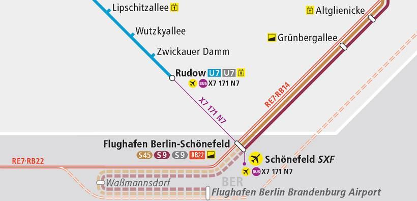 Как добраться в аэропорт берлина шенефельд (sxf)