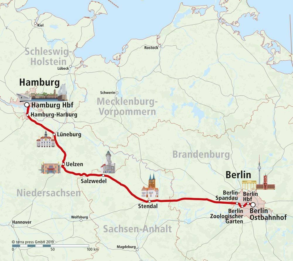 Как добраться из берлина в гамбург самостоятельно?