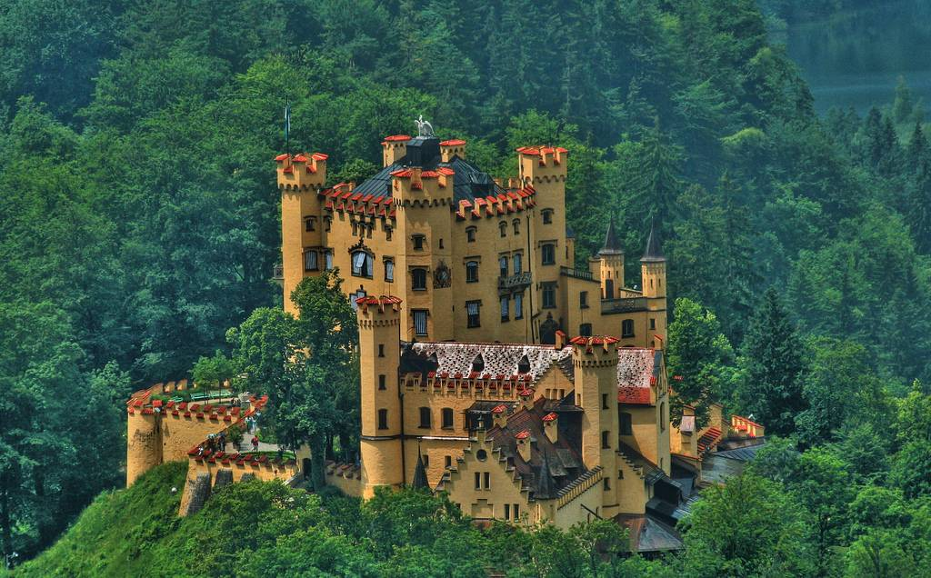 Замок хоэншвангау, германия: описание, фото внутри и снаружи