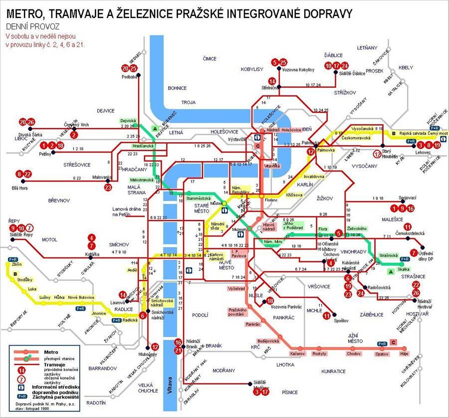Транспорт в праге: маршруты, стоимость, билеты