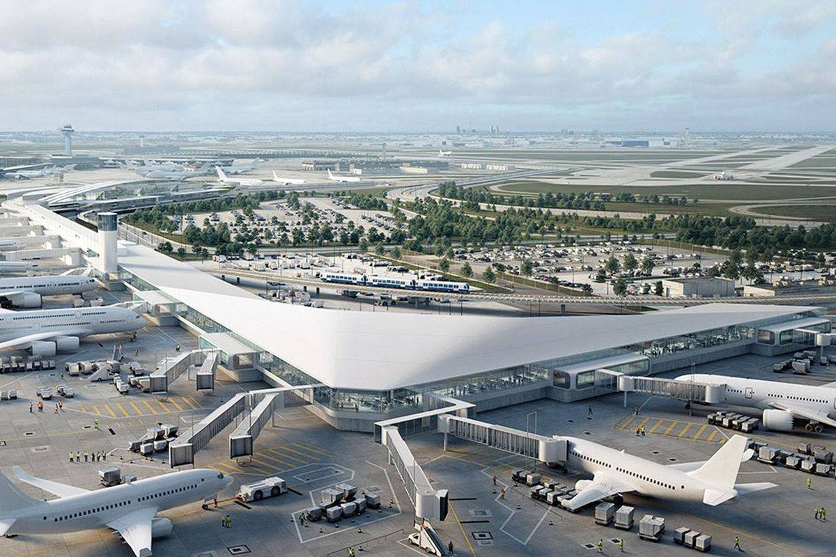 Крупнейшие аэропорты сша на карте