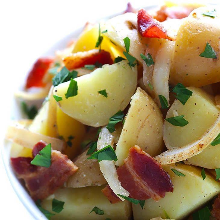 Немецкий классический картофельный салат