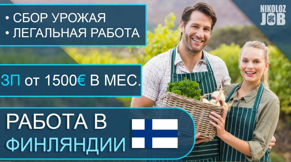 Сезонная работа для иностранцев в финляндии