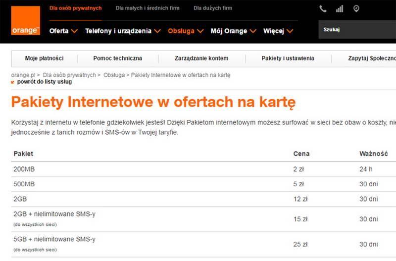 Мобильный оператор orange - описание тарифов