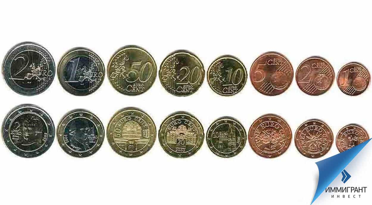 Какая валюта в австрии? деньги австрии