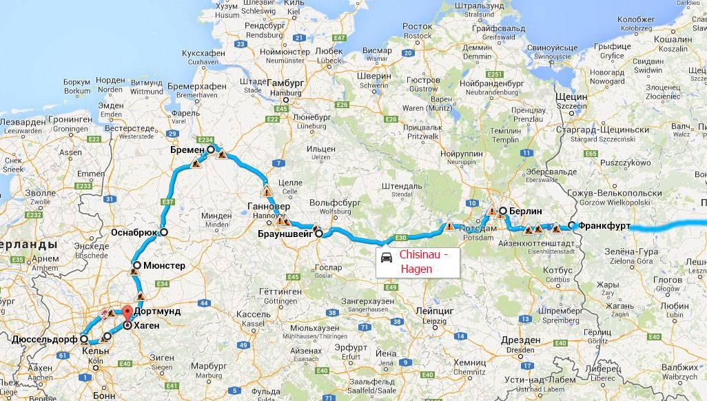 Расстояние между кёльн и гамбургом
