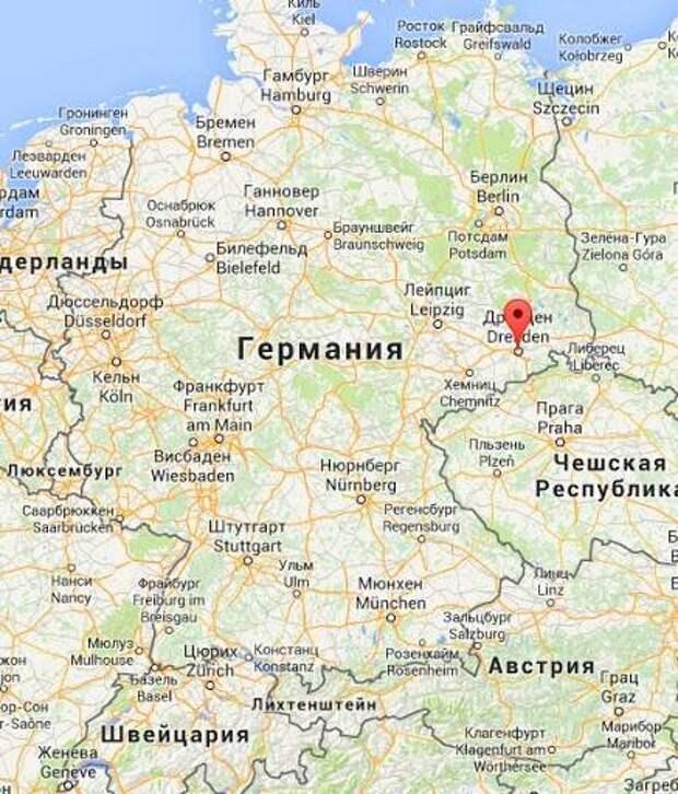 Сколько километров от мюнхена до дрездена