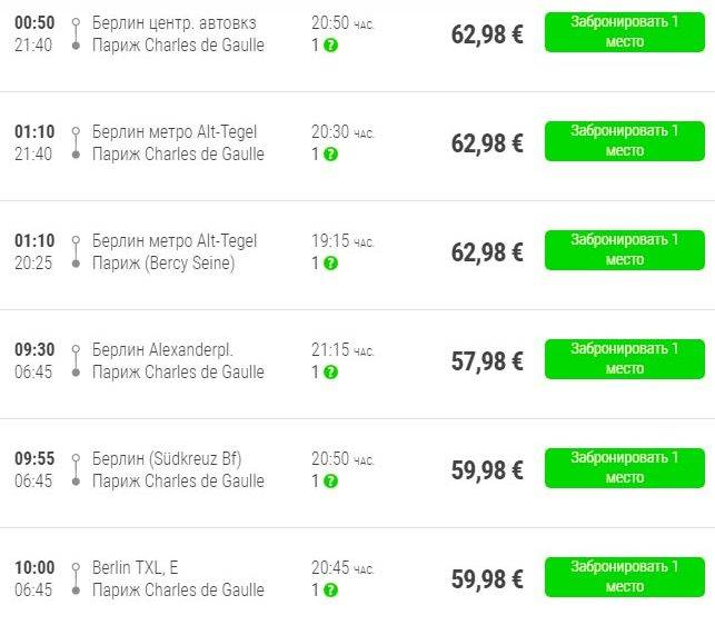 Как дешево и быстро добраться из Берлина в Париж