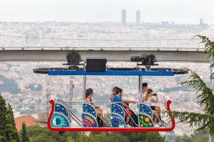 Канатная дорога montjuïc (telefèric de montjuïc) в барселоне