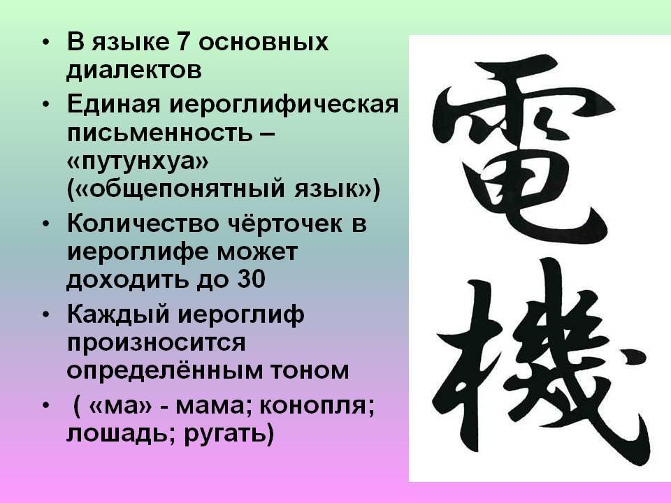 Особенности мандаринского языка в китае