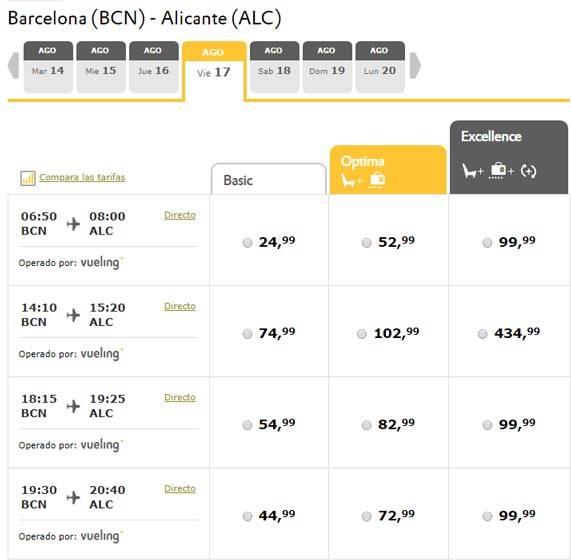 Расстояние от аликанте до других городов испании