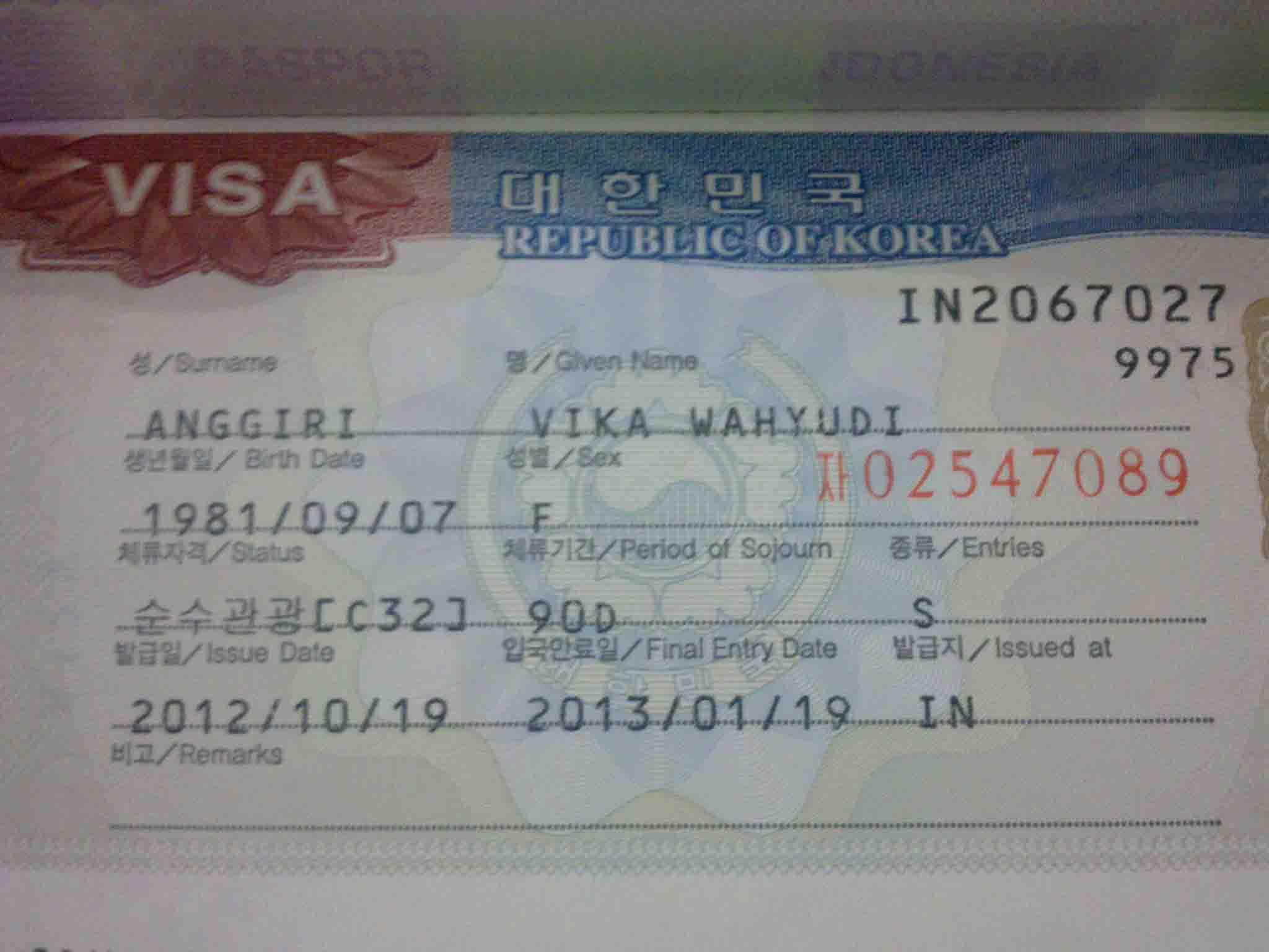 Как самостоятельно оформить визу в южную корею в 2018 году