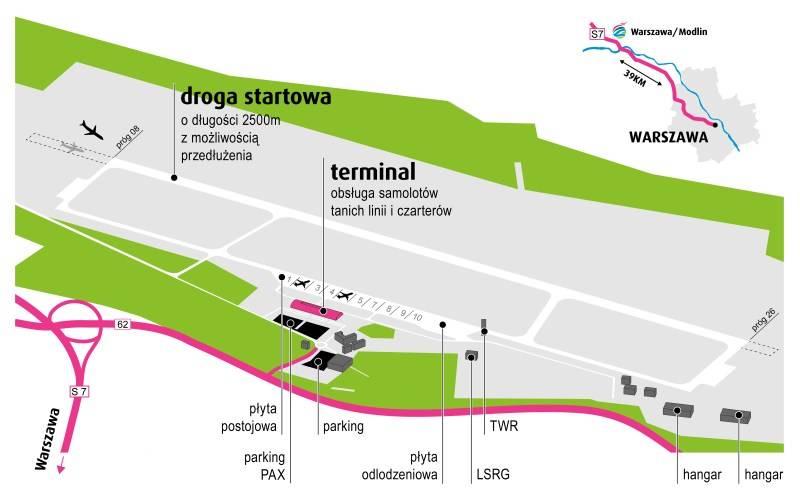 Как доехать из аэропорта варшава-модлин в варшаву