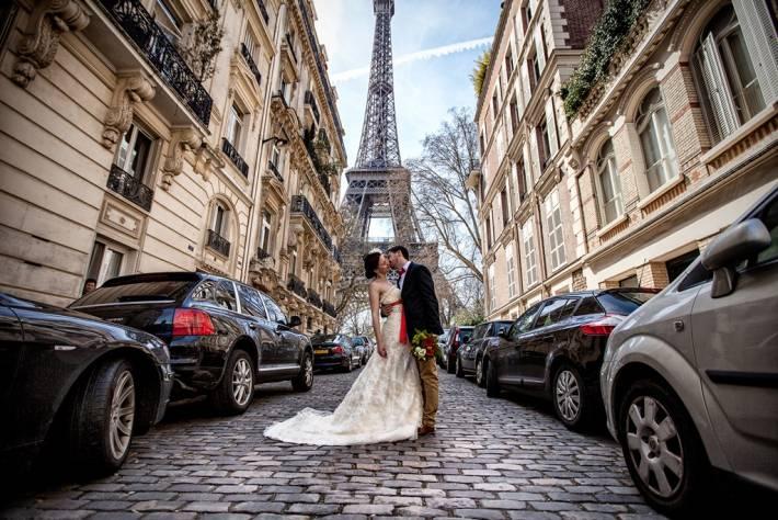 Свадьба в стиле париж: идеи оформления, образ жениха и невесты, фото и видео